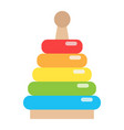 rainbow pyramid toy flat icon kid and play vector image