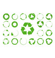 recycle arrows set -ecology icons collection vector image