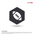 rugby ball icon hexa white background icon vector image