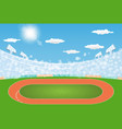 running track arena field with day design vector image
