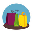 sale bags to special promo in the store vector image vector image