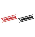scratched textured and clean 1000000 stamp prints vector image vector image