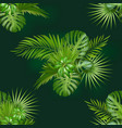 seamless hand drawn botanical exotic vector image vector image