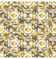 seamless overlapping golden and silver elements vector image