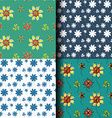 Seamless pattern flower background vector image