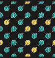 seamless pattern with info icon on black vector image vector image