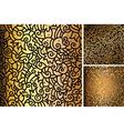 set hand drawn gold patterns vector image vector image