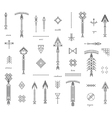 Set of geometric hipster shapes and arrows vector image vector image