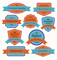 set retro vintage badges and labels eps10 vector image vector image