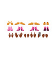 shoes and palms african american girl vector image vector image