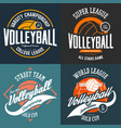 sport t-shirt prints for volleyball players vector image vector image