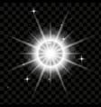 spotlight light effect lightning vector image vector image
