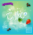 square background with conceptual coffee symbols vector image vector image