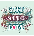 Surf summer love hand lettering vector image vector image