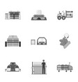 textiles industry tissue and other web icon in vector image vector image