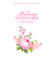 the marriage invitation card vector image vector image