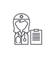 woman doctor line icon concept woman doctor vector image