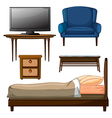 Wooden furnitures vector image vector image