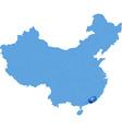 Map of Peoples Republic of China - Hong Kong vector image