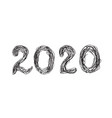 2020 hand drawn lettering for new year vector image vector image