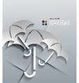 3d paper umbrella modern design vector image