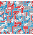 Abstract lined maze seamless pattern vector image