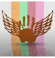 angel icon retro background vector image vector image