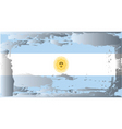 argentina national flag vector image vector image