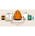 Back to school Flat style vector image vector image