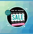 banner end of season sale up to 50 off circle vec vector image