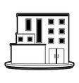 big city building icon image vector image vector image