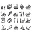 black set of flat icons and elements about vector image vector image