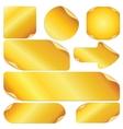 blank golden stickers notes labels set design vector image vector image