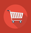 Business Flat Icon Cart vector image