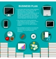 Business plan concept template vector image vector image