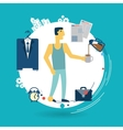 businessman is going to work in the morning vector image vector image