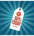 Buy only today discount sale sticker vector image vector image