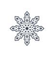 christmas snowflake isolated vector image vector image