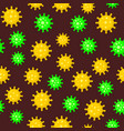 coronavirus seamless pattern on dark background vector image vector image