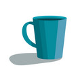 cute blue cup icon cartoon style vector image