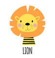 cute little lion animal icon vector image