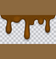 dripping melted chocolates isoalted realistic 3d vector image vector image