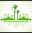 Ecology concept with eco earth vector image