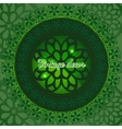 Ethnic decorative pattern in green vector image