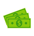 fan banknote money pile dollars cash green vector image
