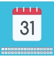 Flat calendar icon with data vector image vector image