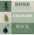 flat military explosive weapons set design concept vector image vector image