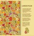 flat poster or banner template with autumn pattern vector image vector image