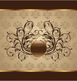 gold floral packing design element vector image vector image
