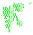 green hex tile svalbard island map vector image vector image
